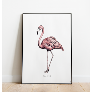 Poster XL Prent Flamingo