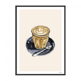 Poster Food Cappuccino 15x20cm
