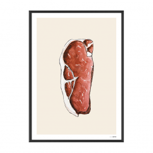 Poster Food Steak 15x20cm