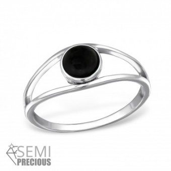Ring Onyx Eye zilver