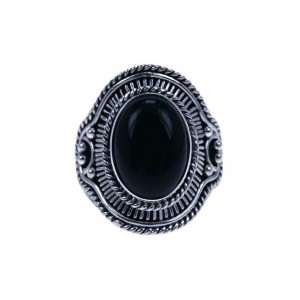 Ring Onyx zilver