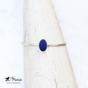 Ring Lapis Lazuli zilver ovaal