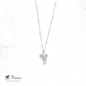 Ketting Shortie Olifant zilver