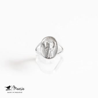ZegelRing Olifant zilver