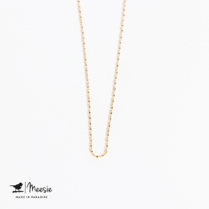 Ketting: Tiny Twisted ketting goud op zilver
