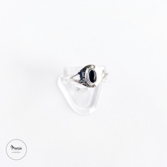 Ring: Onyx zilver