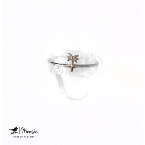 Ring: Palmboom zilver